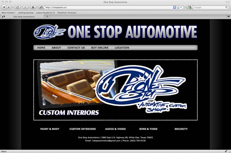 One Stop Automotive in White Oak, Texas (my brother's shop)