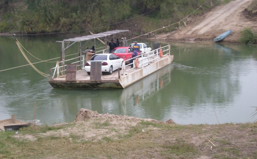 Hand-pulled ferries across the Sabine and Rio Grande